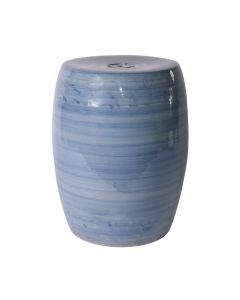 Denim Blue Porcelain Garden Stool