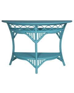 Cottage Half Round Wicker Cocktail Table – Available in a Variety of Finishes