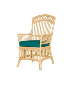 Cottage Stick Wicker Dining Arm Chair - Available in a Variety of Finishes