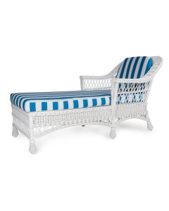 Nantucket Porch Wicker Chaise – Available in a Variety of Finishes