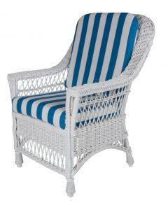 Harbor Front Wicker Dining Arm Chair – Available in a Variety of Finishes