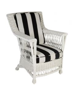 Braided Wicker Arm Chair with Pineapple Feet - Available in a Variety of Finishes