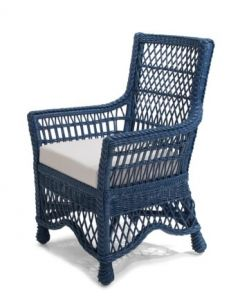 Diamond Weave Wicker Arm Chair - Available in a Variety of Finishes