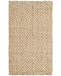 Diamond Pattern Jute and Ivory Natural Rug -  Variety of Sizes Available