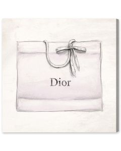 Dior Shopping Bag Canvas Print Fashion Wall Art - Variety of Sizes Available