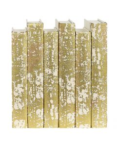 Distressed Metallic Gold Decorative Book Set