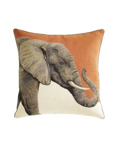 Jacquard Elephant Decorative Pillow- Available in Three Colors