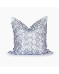 Dogwood Floral Linen Square Throw Pillow in Purple