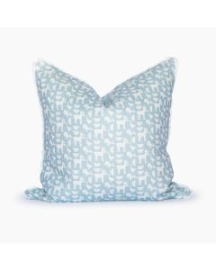 Down By the Bay Square Pillow in Blue and White
