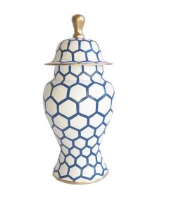 Blue Mesh Ginger Jar