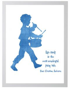 Drummer Boy With Hans Christian Anderson Quote Wall Art - Available in Two Different Sizes