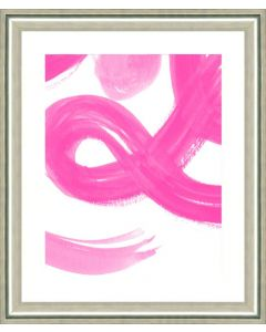 Pink Stroke Abstract II Framed Wall Art-Available in a Variety of Sizes