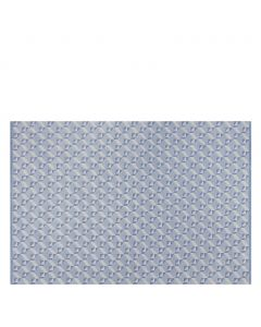 Dufrene Delft Geometric Blue and Chalk Wool Floor Rug by Designers Guild – Available in Three Sizes