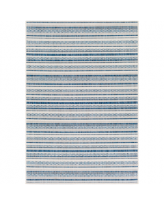 Large Indoor/Outdoor Blue Striped Rug - Available in a Variety of Sizes