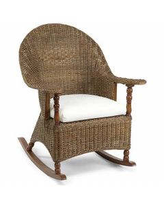 Eastern Shore Wicker Rocker with Cushion in Variety Colors