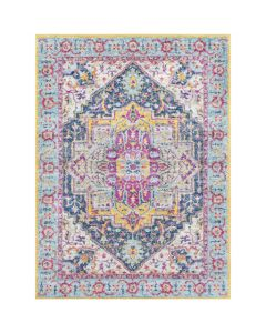 Eliza Bright Pink and Aqua Geometric Area Rug - Available in a Variety of Sizes