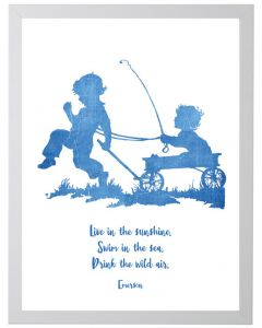 Emerson Live Quote Children's Wall Art - Available in Two Different Sizes