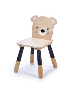 Enchanted Forest Wooden Bear Chair for Kids