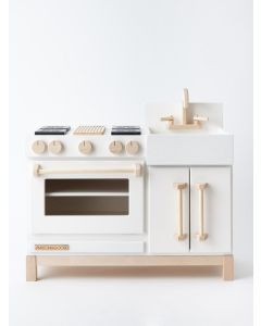 White Essential Play Kitchen for Kids - LOW STOCK