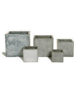 Set of Five Outdoor Garden Boxes in Faux Lead