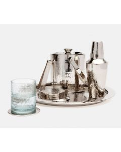 Etched Nickel Barware Set