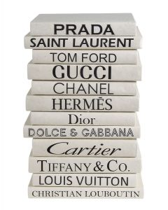 Fashion Boutique Decorative Books in Black & White - Priced Per Book