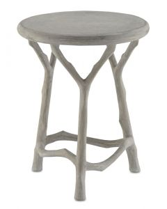 Faux Bois Concrete Side Table/Stool in Natural