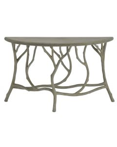 Faux Bois Half Round Indoor/Outdoor Concrete Table