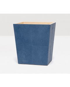 Pigeon & Poodle Manchester Faux Shagreen Rectangular Wastebasket in Navy with Optional Tissue Box