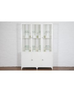 Bordeaux 3 Door Vitrine With Glass Doors and Adjustable Shelves - Available in White or Black