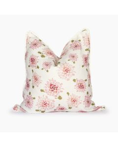 Fifty State Blush Hydrangea Square Linen Pillow