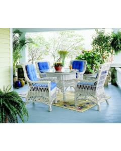 Five Piece Classic Wicker Dining Set- Available in a Variety of Finishes