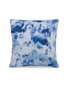 Floral Haze Decorative Throw Pillow in Blue