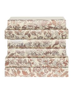 Floral Rose Gold Decorative Book Set