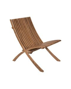 Folding Outdoor Chair in Euro Teak Oil Finish