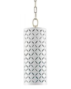 Four-Pointed Star Design Columnar Pendant in White
