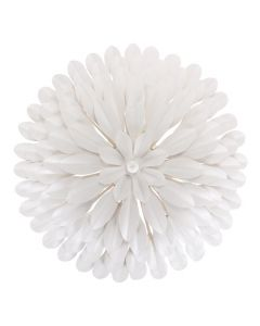 Four Light Matte White Flower Petal Wall Sconce