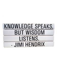 Four Volume Jimi Hendrix Quote Set of Decorative Books