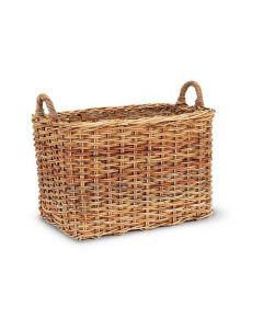 French Country Rattan Mud Room Storage Basket - ON BACKORDER UNTIL LATE JUNE 2021