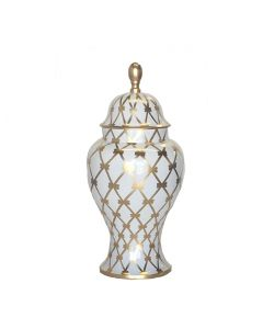 French Twist in Gold Medium Ginger Jar