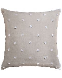 French Knot Embroidery Gray Polka Dot Decorative Square Throw Pillow - Available in Two Sizes