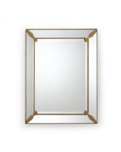 Gabrielle Beveled Wall Mirror With Old Gold Accents - ON BACKORDER UNTIL AUGUST 2020