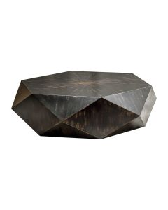 Geometric Coffee Table with Worn Black Finish - ON BACKORDER UNTIL APRIL 2021