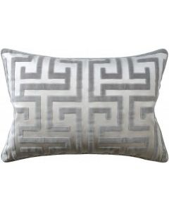 Geometric Velvet Grey Decorative Rectangular Cotton Pillow