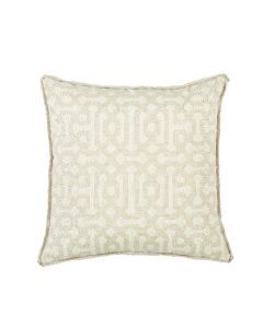 Lacefield Designs Geometric Versailles Sand Outdoor Throw Pillow with Sand Flange - CALL TO CONFIRM AVAILABILITY