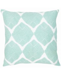 Geometrical Design Linen Decorative Pillow in Seafoam - Available in Two Sizes