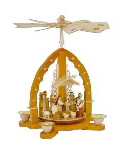 German Candle Holder Pyramid Nativity Scene Christmas Decoration