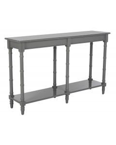 Glossy Grey Lacquered Bamboo Console Table