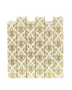 Gold Fleur de Lis Decorative Book Set