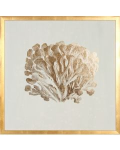 Gold Foil Coral III Wall Art in Gold Frame